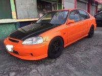 Orange Honda Civic 1999 for sale in Quezon City