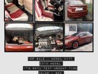 Red Honda City 2010 for sale in Santo Tomas