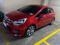 Red Kia Rio 2017 for sale in Makati