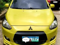 Selling Yellow Mitsubishi Mirage 2013 in Muntinlupa