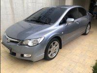 Selling Silver Honda Civic 2008 Sedan at 123000 km in Bacolod