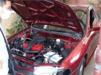 Selling Red Mitsubishi Lancer 2004 in Marikina