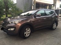 Selling Brown Hyundai Santa Fe 2015 in San Fernando