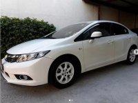 White Honda Civic 2013 for sale in Manila