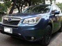 Blue Subaru Forester 2.0i-L 2014 for sale in Manila
