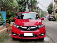 Red Honda Brio 2018 Hatchback at 10000 km for sale