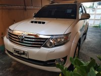 Pearl White Toyota Fortuner 2015 for sale in Cabanatuan