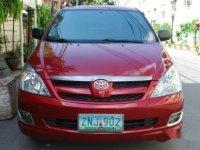 Red Toyota Innova 2008 for sale in Manila