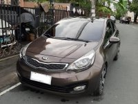 Brown Kia Rio 2014 for sale in Las Piñas