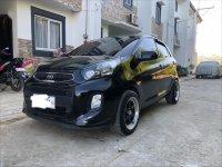 Black Kia Picanto 2016 for sale in San Jose del Monte