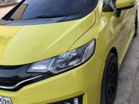 Yellow Honda Jazz 2016 for sale in Lipa City