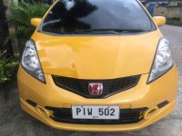 Yellow Honda Fit 2010 for sale in Angeles