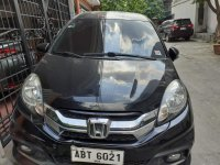 Selling Black Honda Mobilio 2015 in Quezon