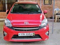 Red Toyota Wigo 2015 for sale in San Mateo