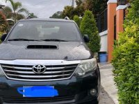 Selling Black Toyota Fortuner 2014 in Davao