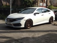 White Honda Civic 2016 for sale in Quezon