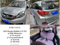 Brightsilver Honda Mobilio 2015 for sale in Quezon