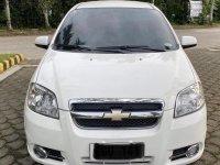 White Chevrolet Aveo 2010 Sedan Automatic