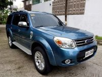 Blue Ford Everest 2014