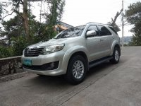 Silver Toyota Fortuner 2013 for sale in San Isidro