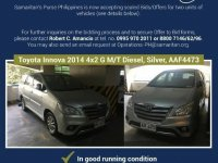 Silver Toyota Innova 2014 for sale in Quezon