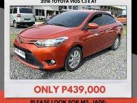 Selling Orange Toyota Vios 2016 in Mandaue