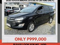 Selling Black Toyota Innova 2020 in Mandaue