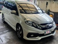 Selling Pearl White Honda Mobilio 2016 in Quezon