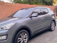 Grey Hyundai Santa Fe 2013 for sale in Manila