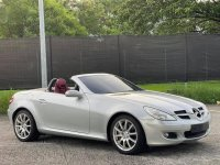 Pearl White Mercedes-Benz SLK350 2006 for sale in Las Pinas