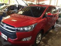 Red Toyota Innova 2018 for sale in Imus