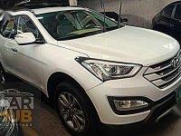 White Hyundai Santa Fe 2014 for sale in Quezon