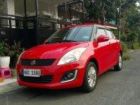 Red Suzuki Swift 2017 for sale in Las Piñas