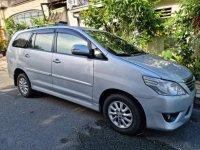 Silver Toyota Innova 2012 for sale in Quezon