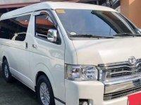 Pearl White Toyota Hiace Super Grandia 2018 for sale in Automatic