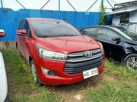 Red Toyota Innova 2017 for sale in Quezon City