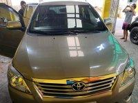 Beige Toyota Innova 2013 for sale in Manual