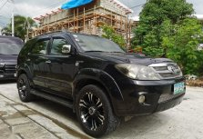 Black Toyota Fortuner 2008 for sale in Paranaque City
