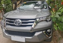 Selling Brightsilver Toyota Fortuner 2017 in Makati