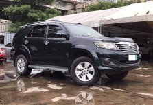 Black Toyota Fortuner 2012 for sale in Makati