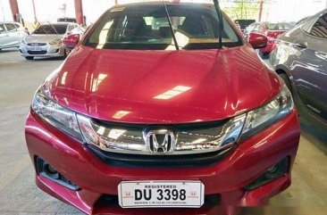 Red Honda City 2017 Automatic Gasoline for sale
