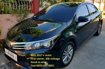 Black Toyota Altis 2017 for sale in Davao