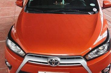 Selling Orange Toyota Yaris 2016 in Quezon City